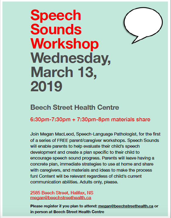 Speech Sounds Workshop