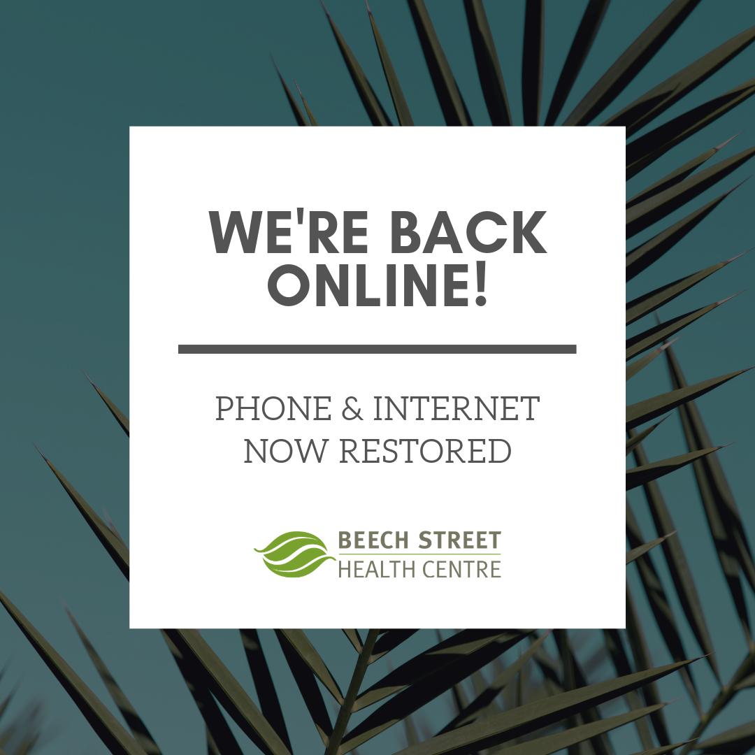 Beech Street Health Back Online
