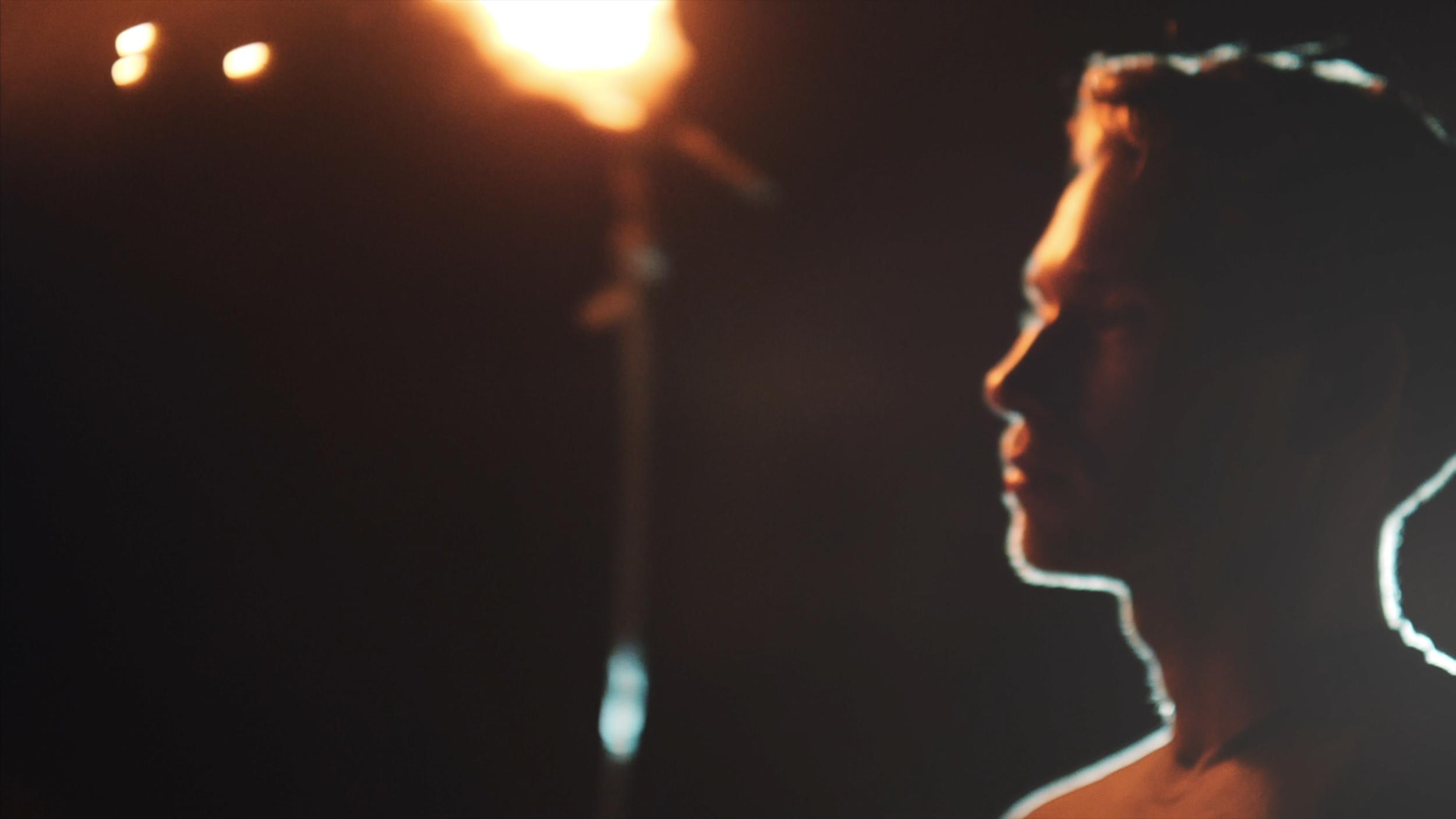 indie music video with steel wool sparkler