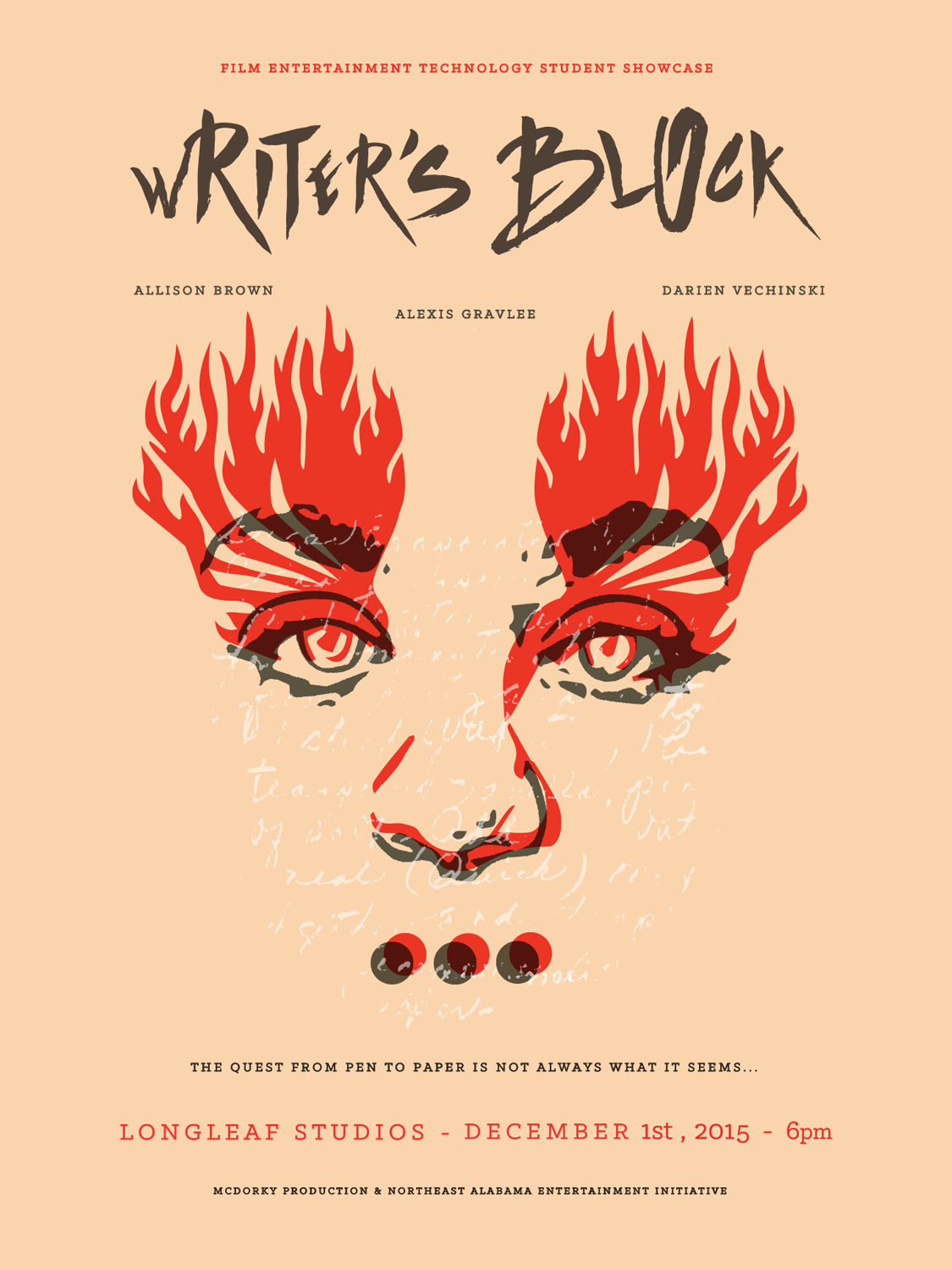 Print Production —  Writer's Block  Premier Event Poster