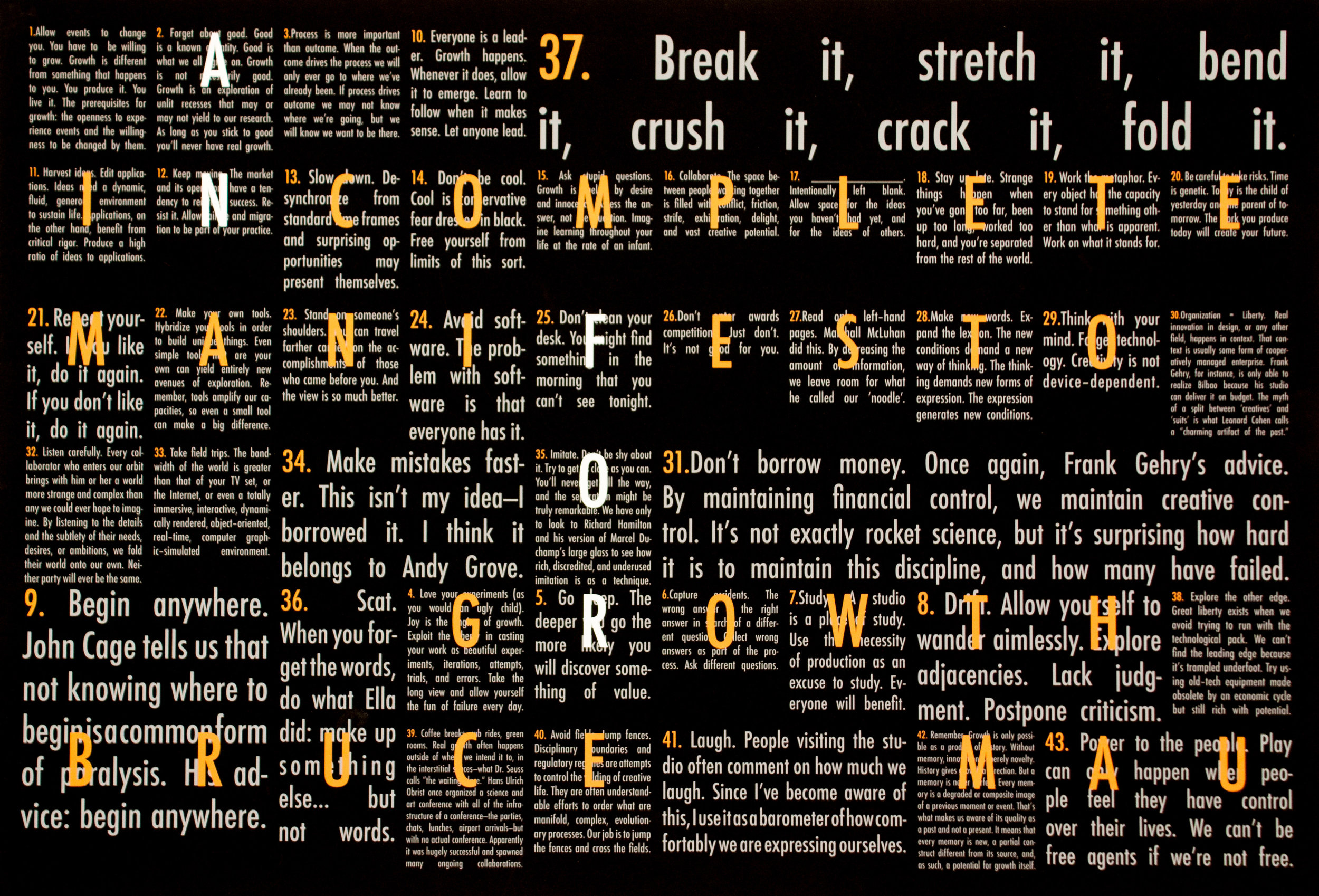 Graphic Design 01 — Bruce Mau Grid Poster