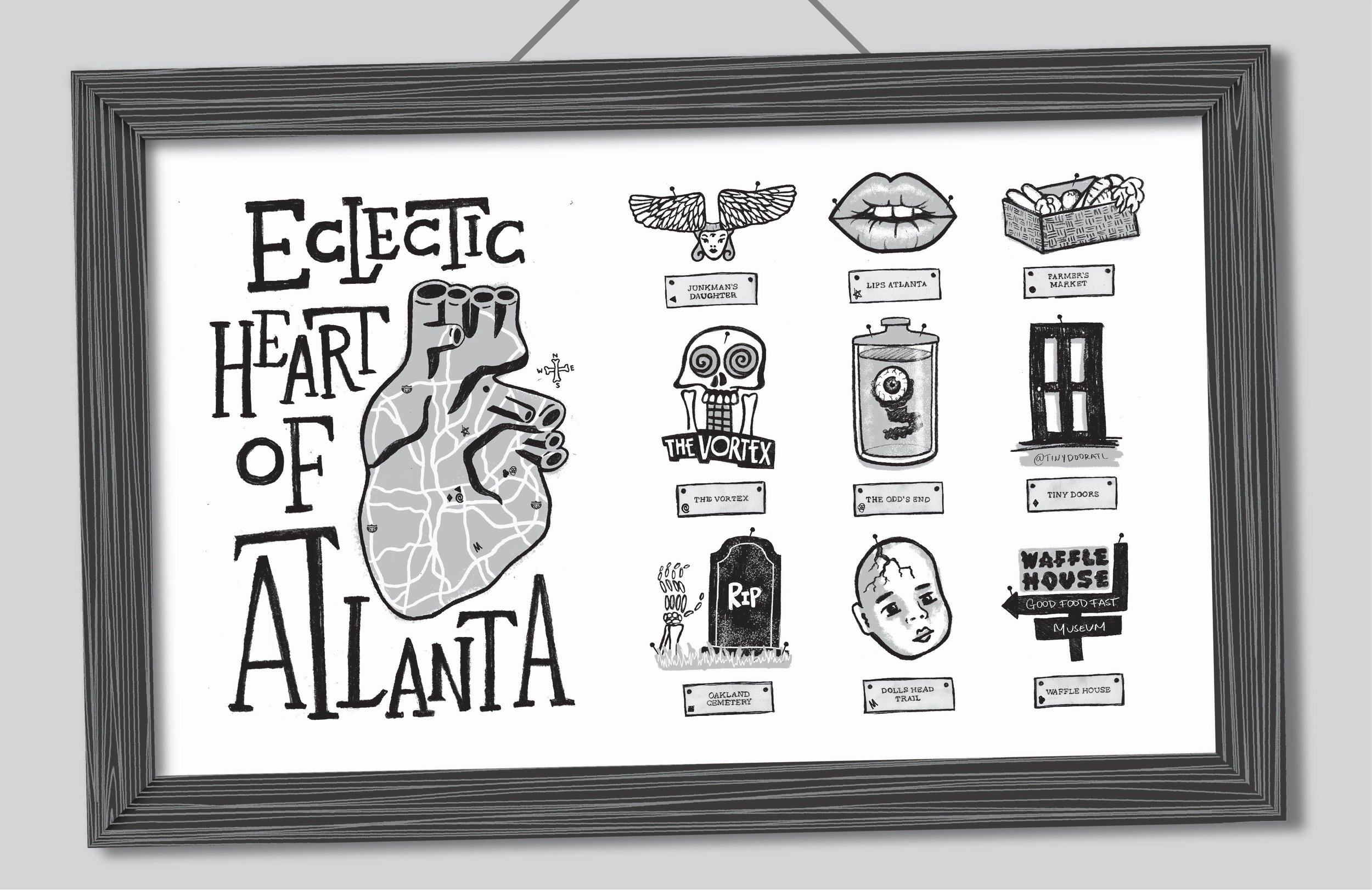 Graphic Design 03 — Heart of Atlanta Illustrated Map