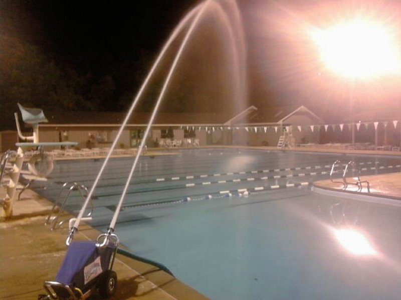 The Watercannon cools your pool water