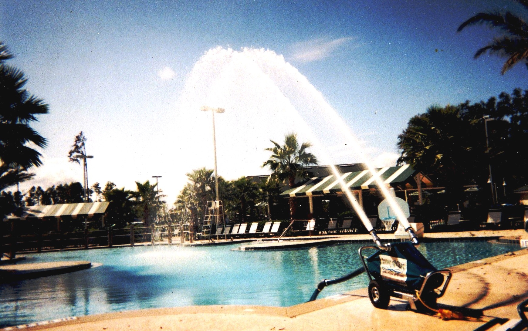 The Watercannon swimming pool aeration system