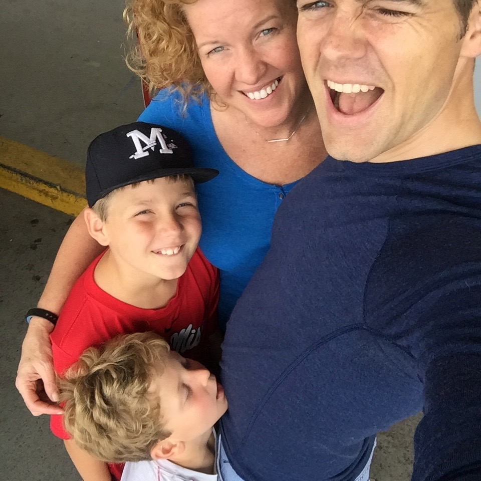 Family seeing me off at the airport