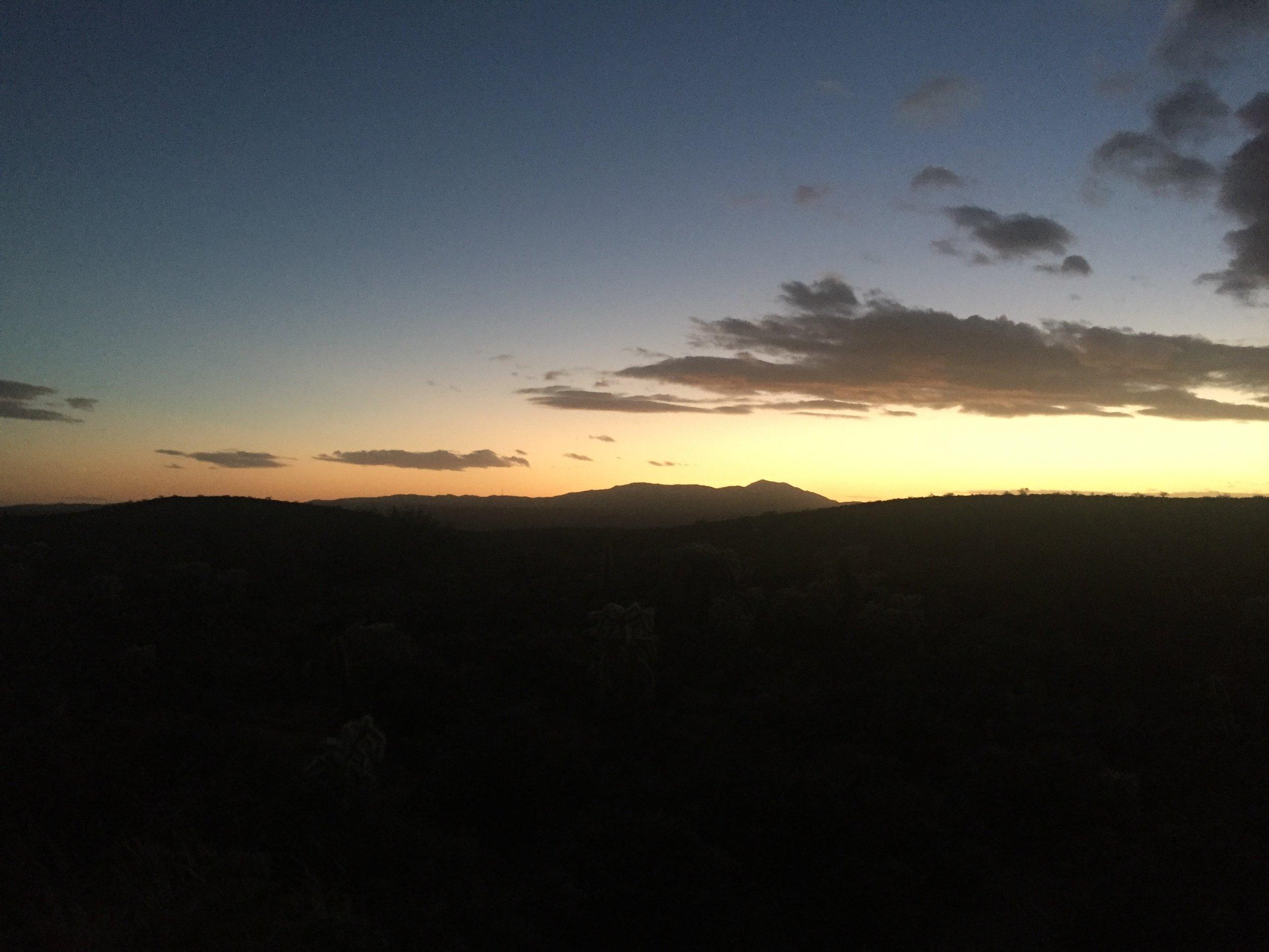 First sunset heading into Freeman Rd