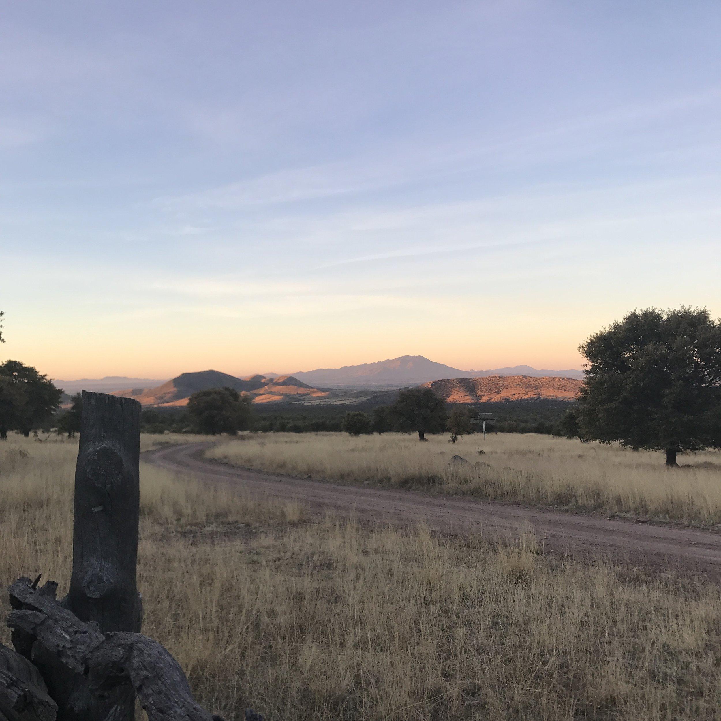 Sunrise over the Huachucas