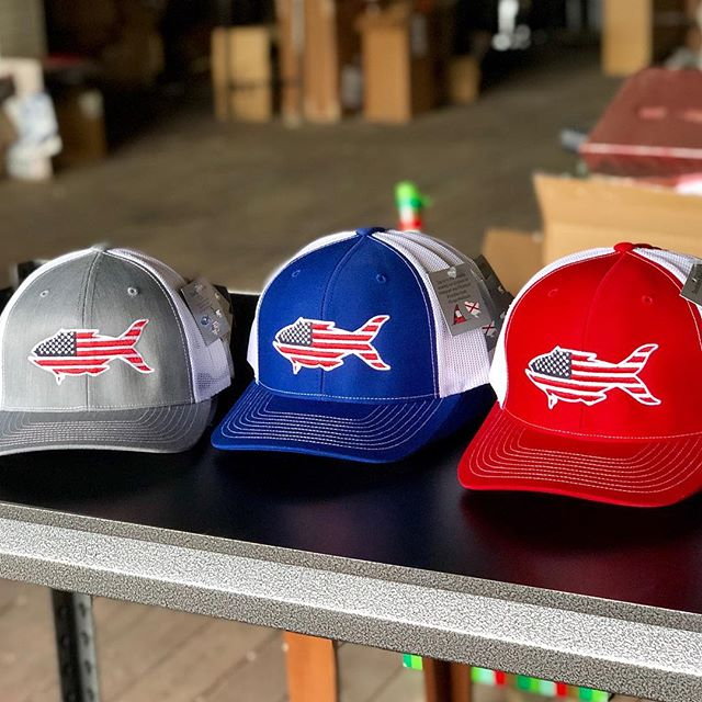 Can you have too many American Flag hats? . . . . #usa #americanflag #snapper #hunting #fishing #southernsnap #snapofthesouth