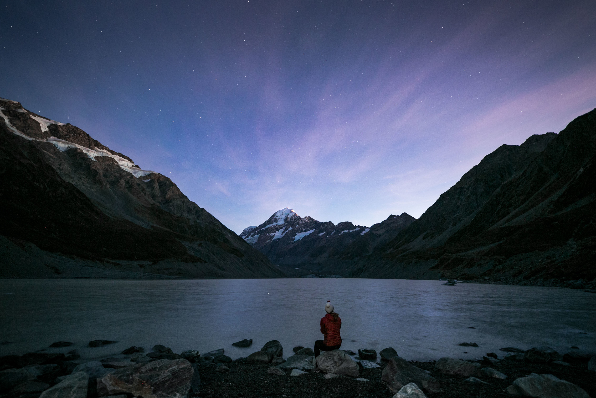 Hooker Lake and Mount Cook