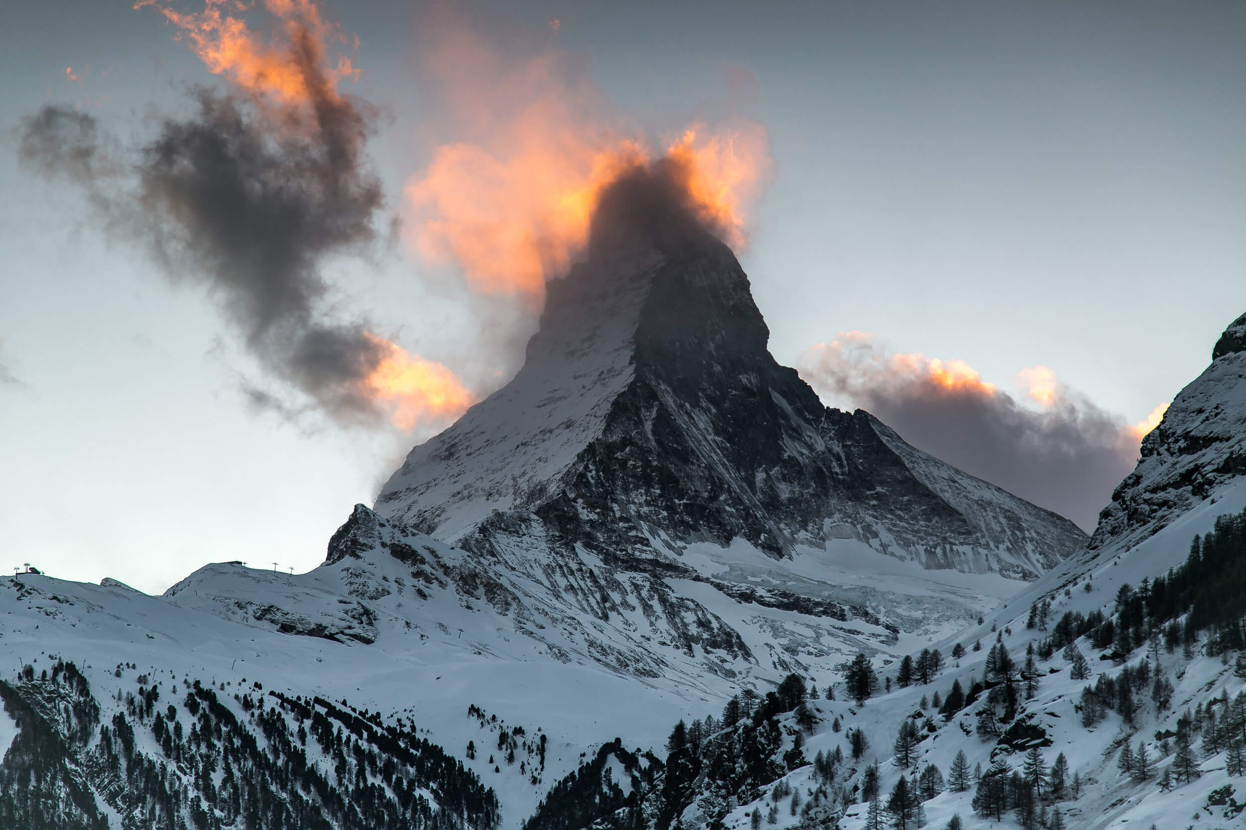 Matterhorn at sunrise, Zermatt, Switzerland