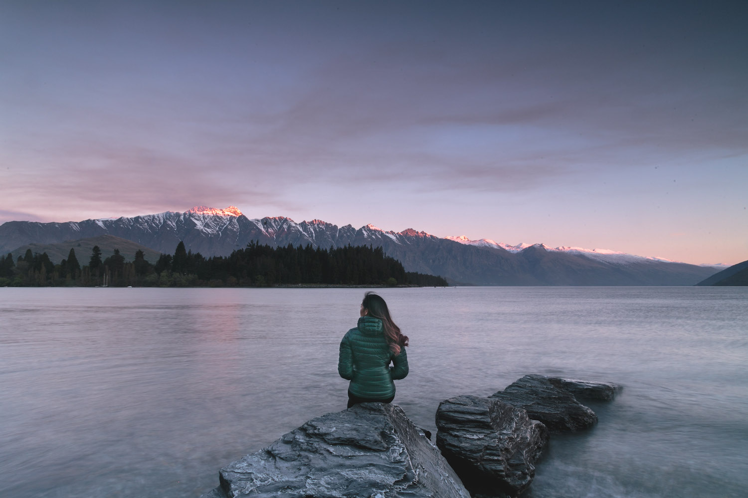The Remarkables in Queenstown at sunrise, New Zealand
