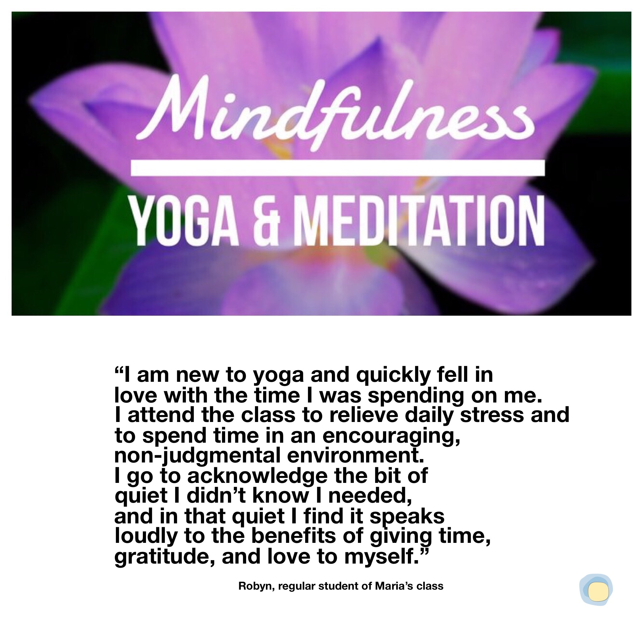 Mindfulness Student Quote