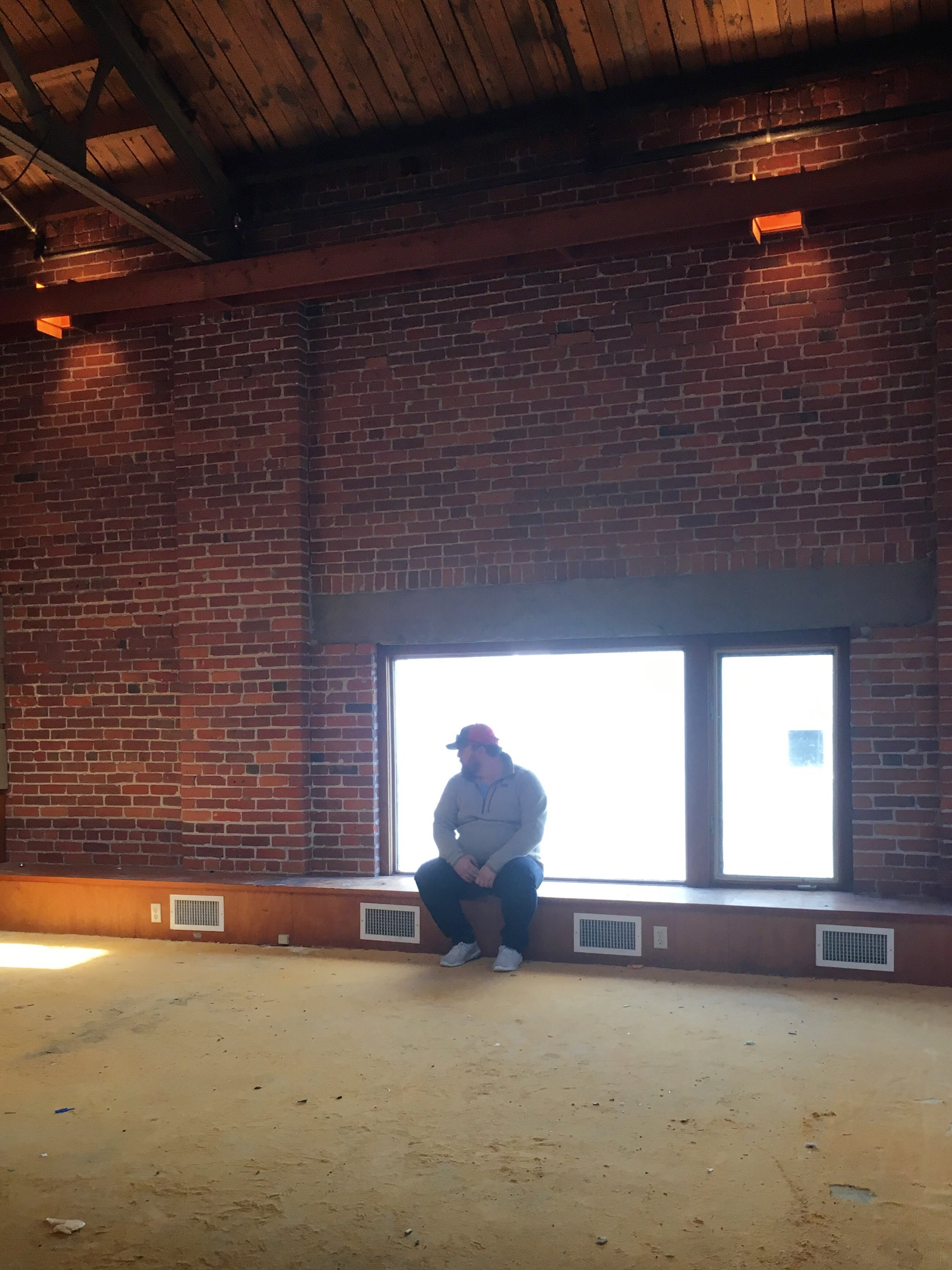 My partner and business coach, taking in the scene the first day we stepped into the space Mar. 12.