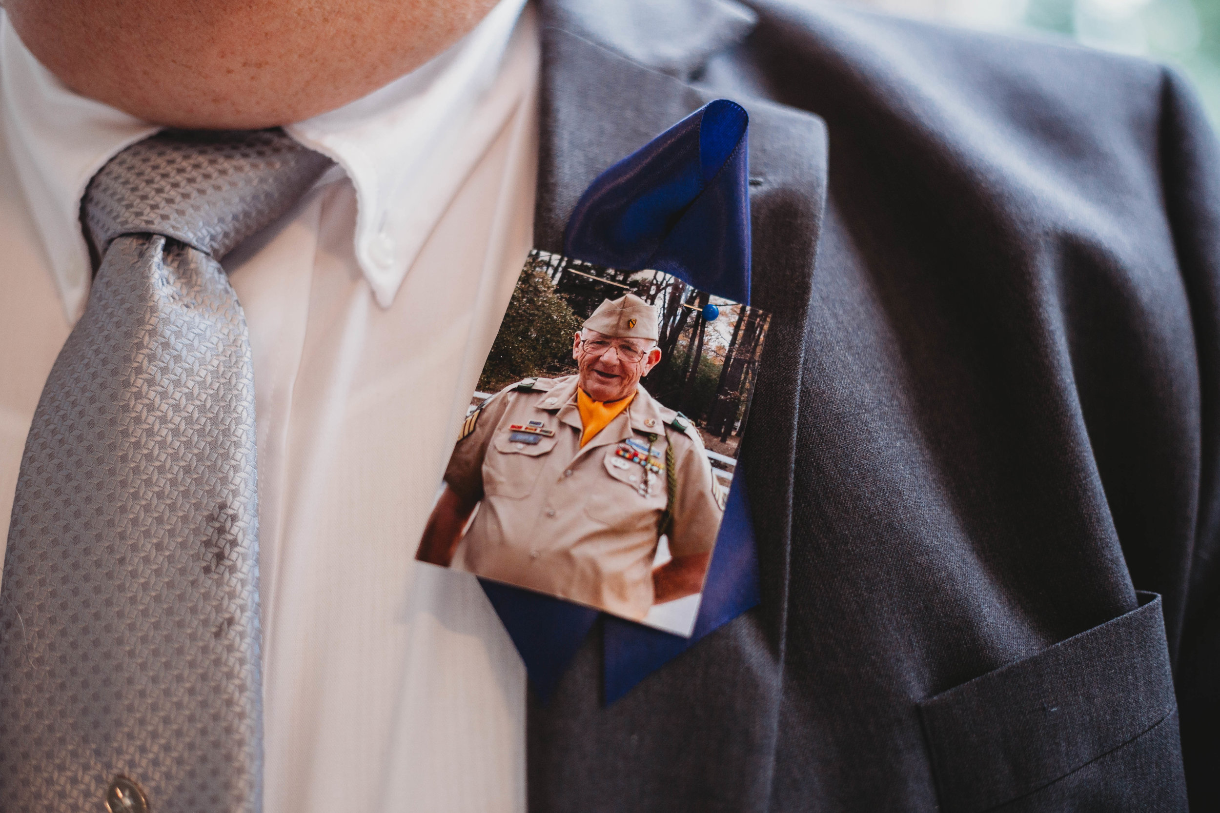 This lovely gentleman was Katie's dad's stand-in for the dance. He proudly wore a photo of Katie's dad pinned to his jacket. He had also recently suffered the loss of his wife. It was a very emotional day.
