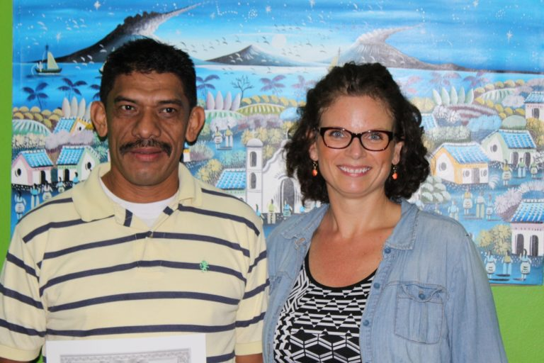 Guadalupe Fuentes, 46, resident of Sutiava – employed at Nicaragua Institute of Social Security