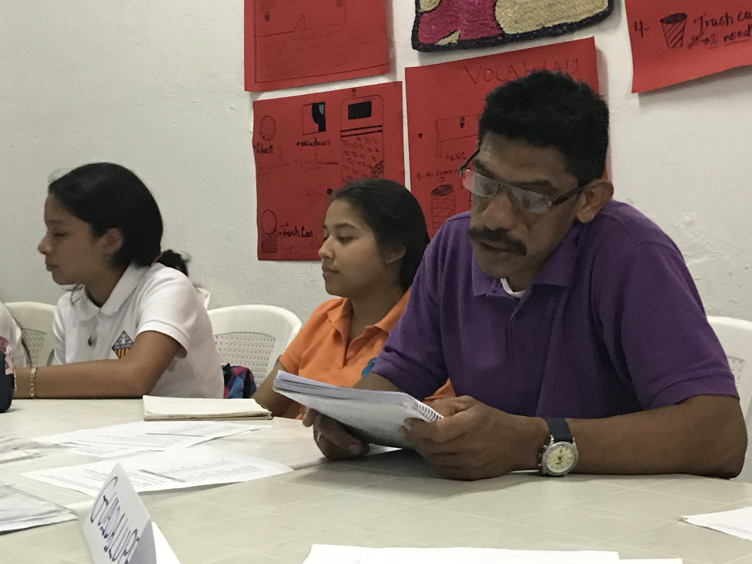 Guadalupe maintains a full time job during the day and attends English classes four nights a week at ITA Nicaragua in León.