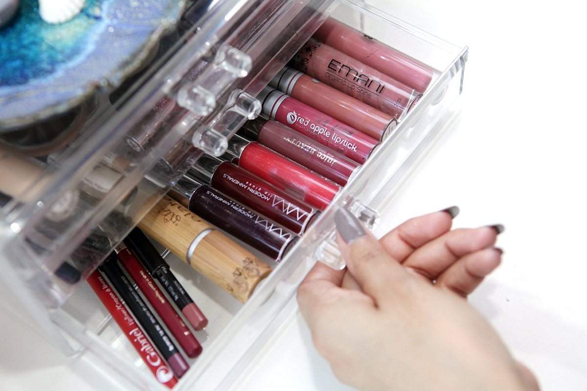 Modern Minerals lipstick collection.