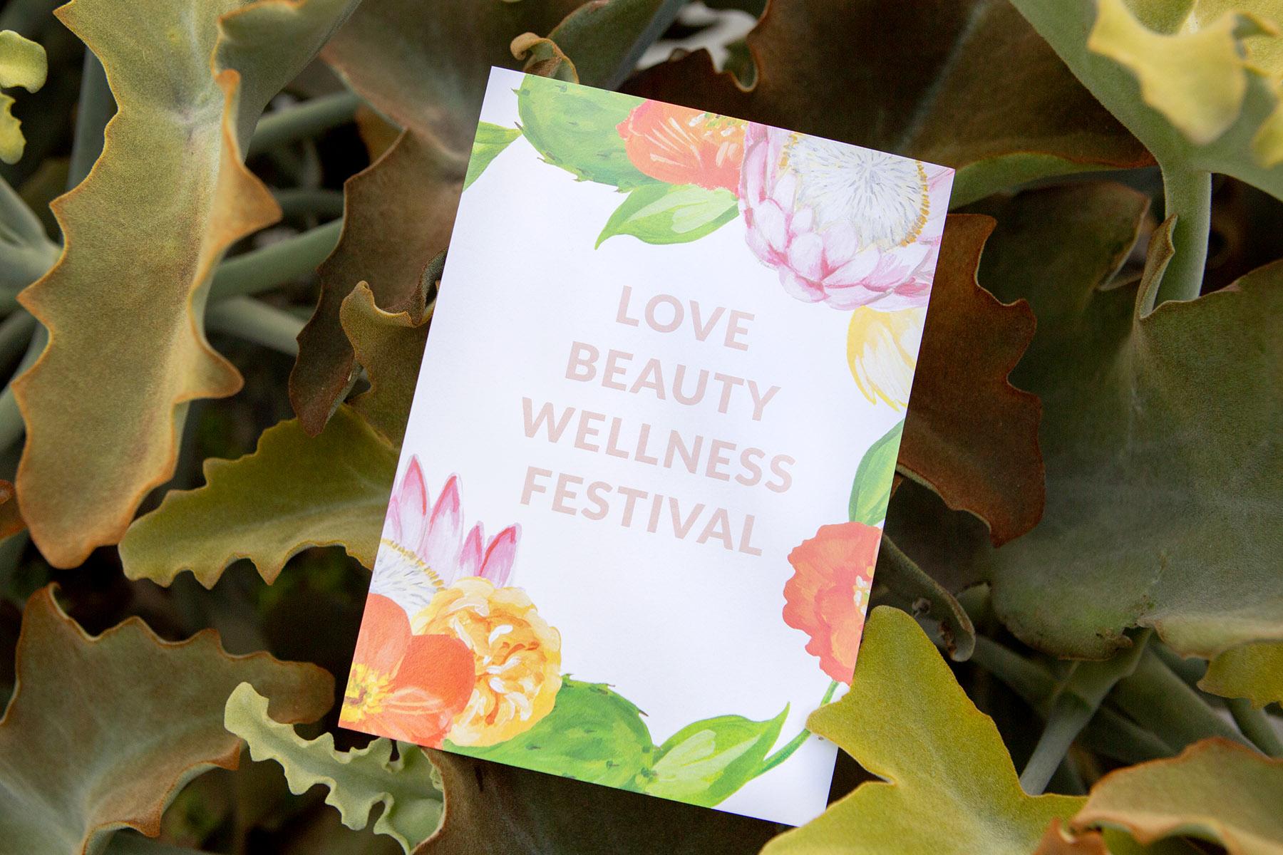 Love Beauty Wellness Festival Flyer
