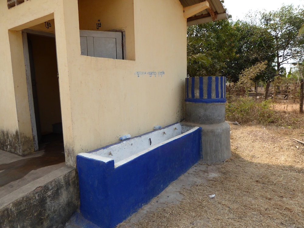 Our hand-washing station (2014)