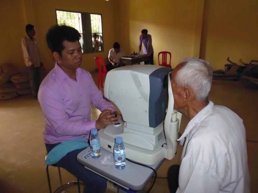 Vision screening for a village elder