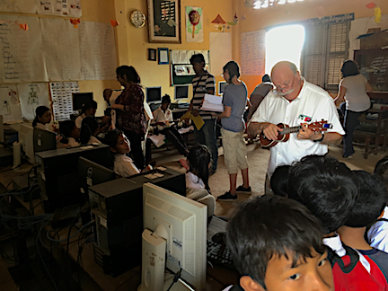 """""""Mr. Uke"""" Ken Colson helps out"""