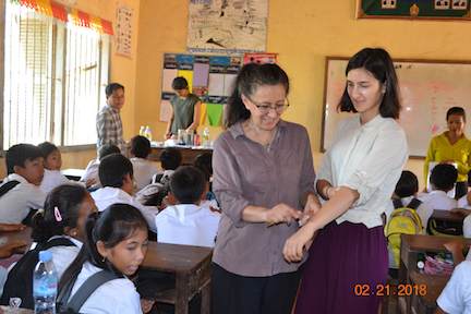 Sofie & her mom teaching first aid