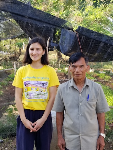 Sofie and our gardener