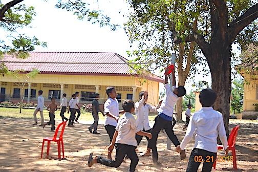 Great frisbee catch!