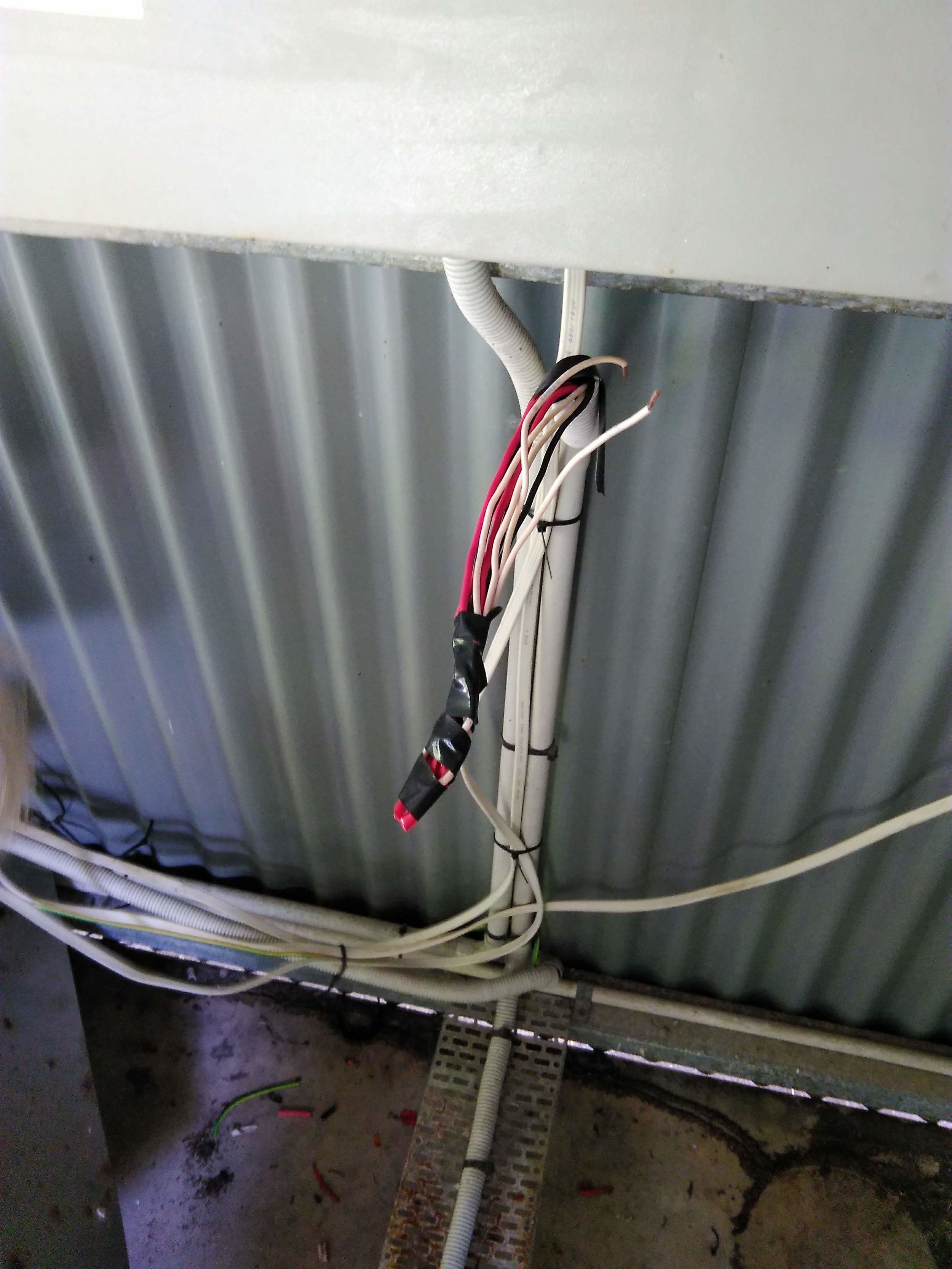 Existing - Temp wiring