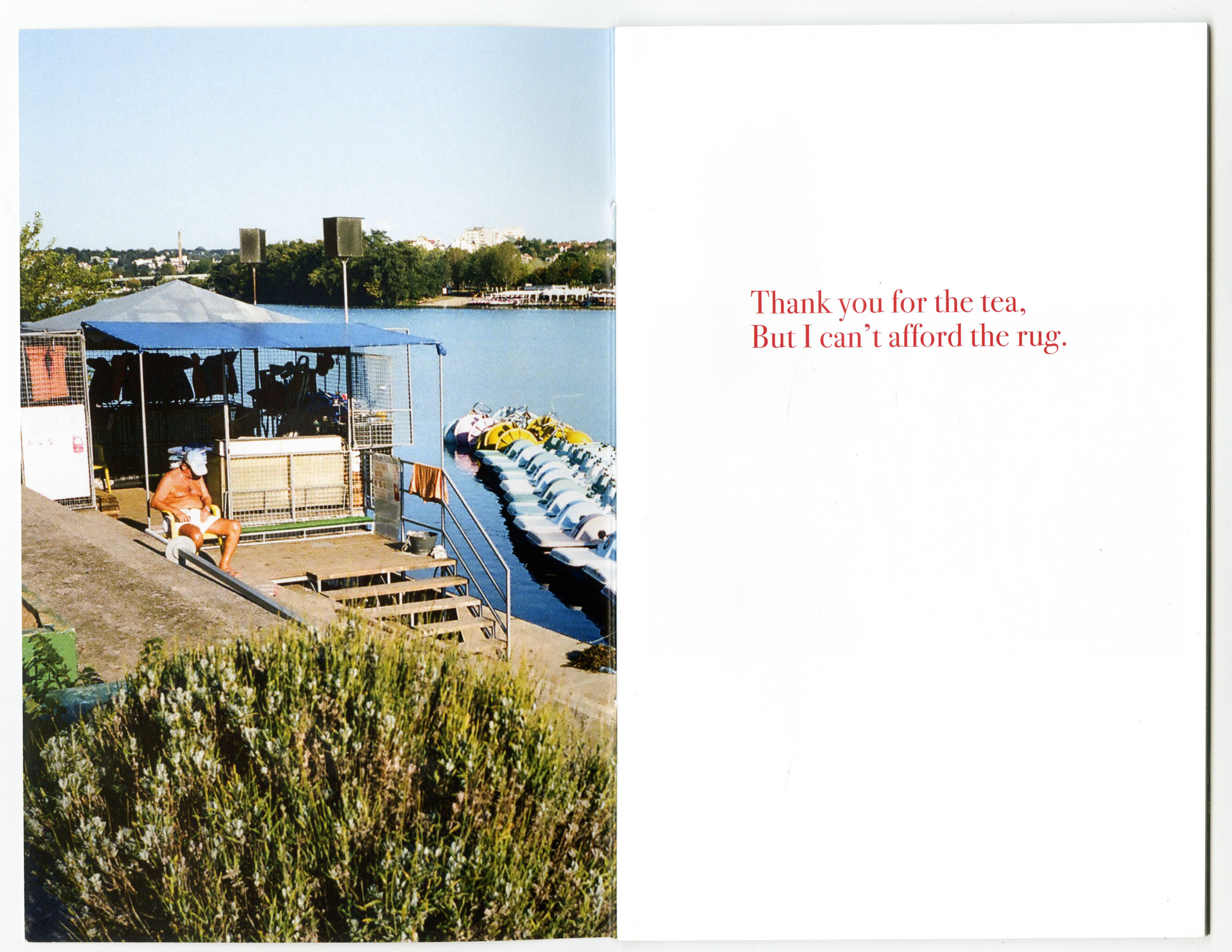 """Thank you for the tea, But I can't afford the rug."" 44 pages, edition of 50. all photos shot on kodak portra throughout europe, 2017. $10 + shipping.  [UPDATE: SOLD OUT]"
