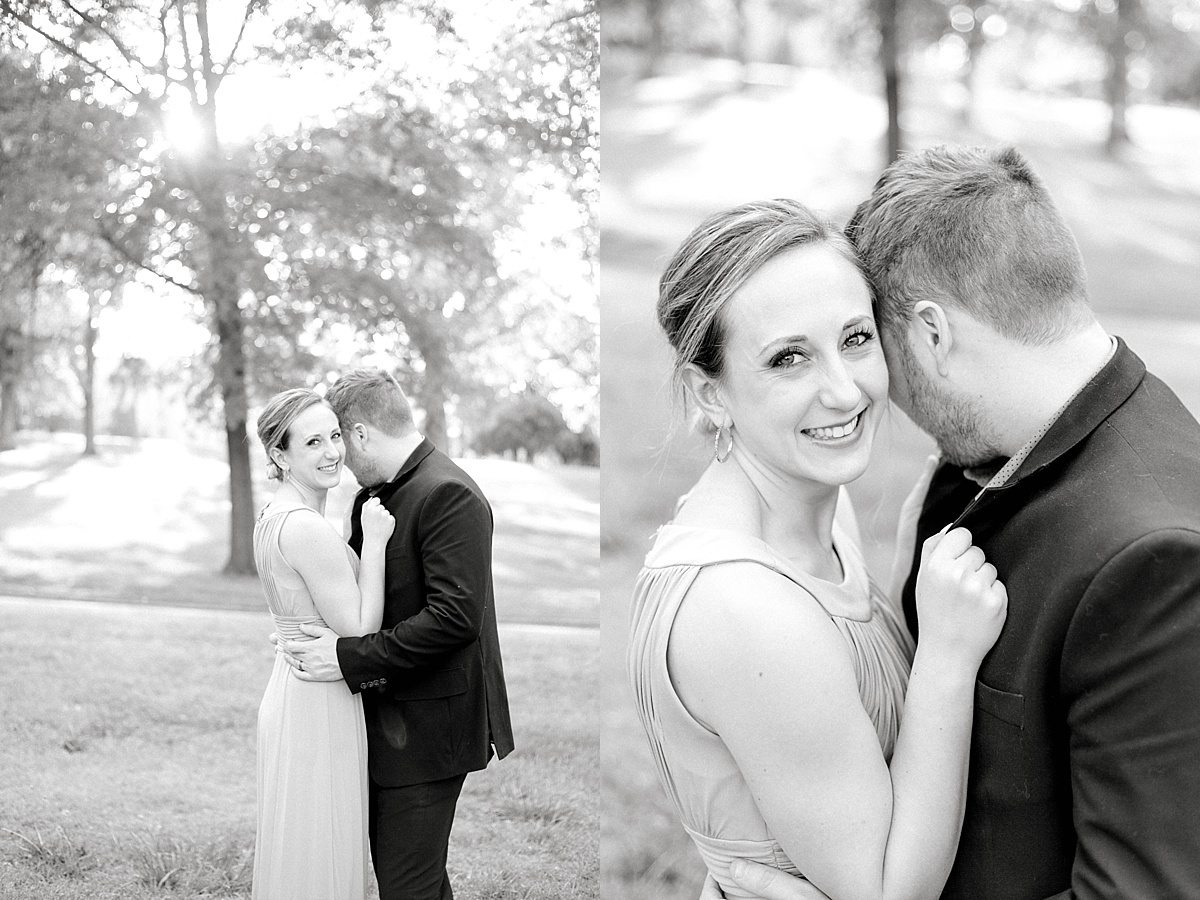 Black and white images of a bride and groom.