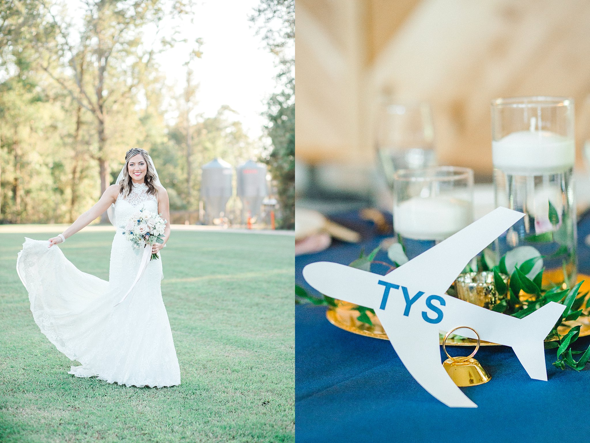 An aviation themed wedding.
