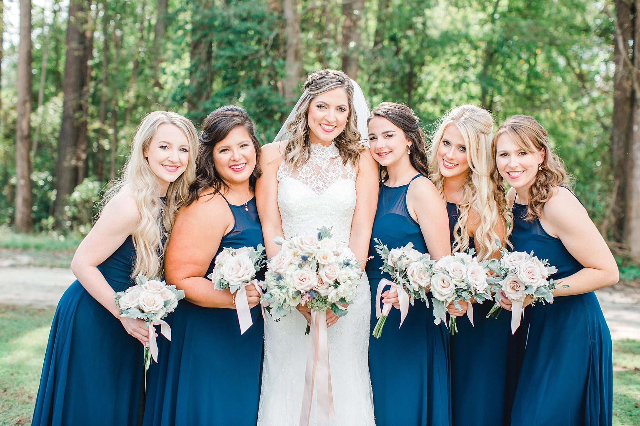 Navy and blush wedding palette.
