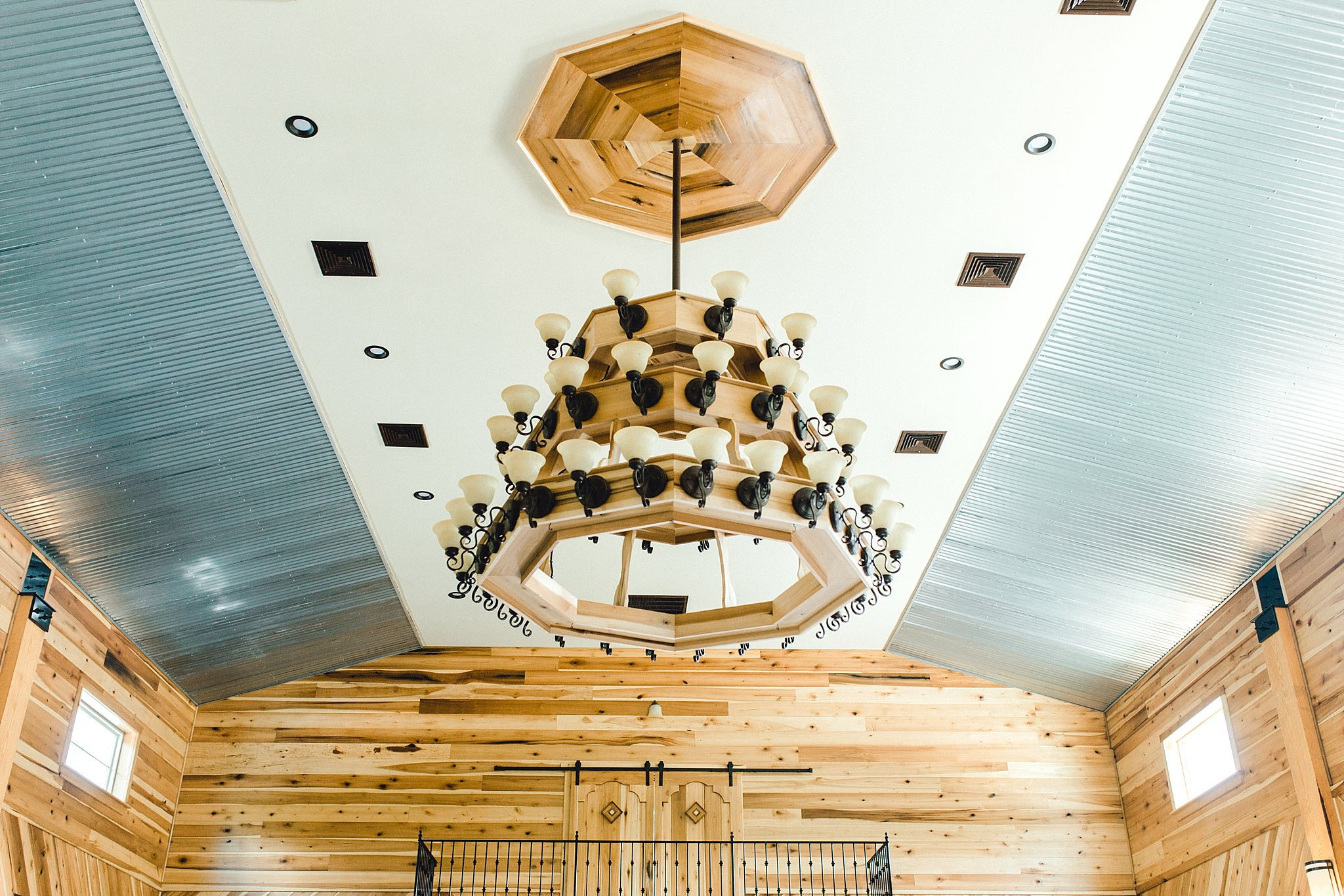 Rustic chandelier at the Broadslab Distillery