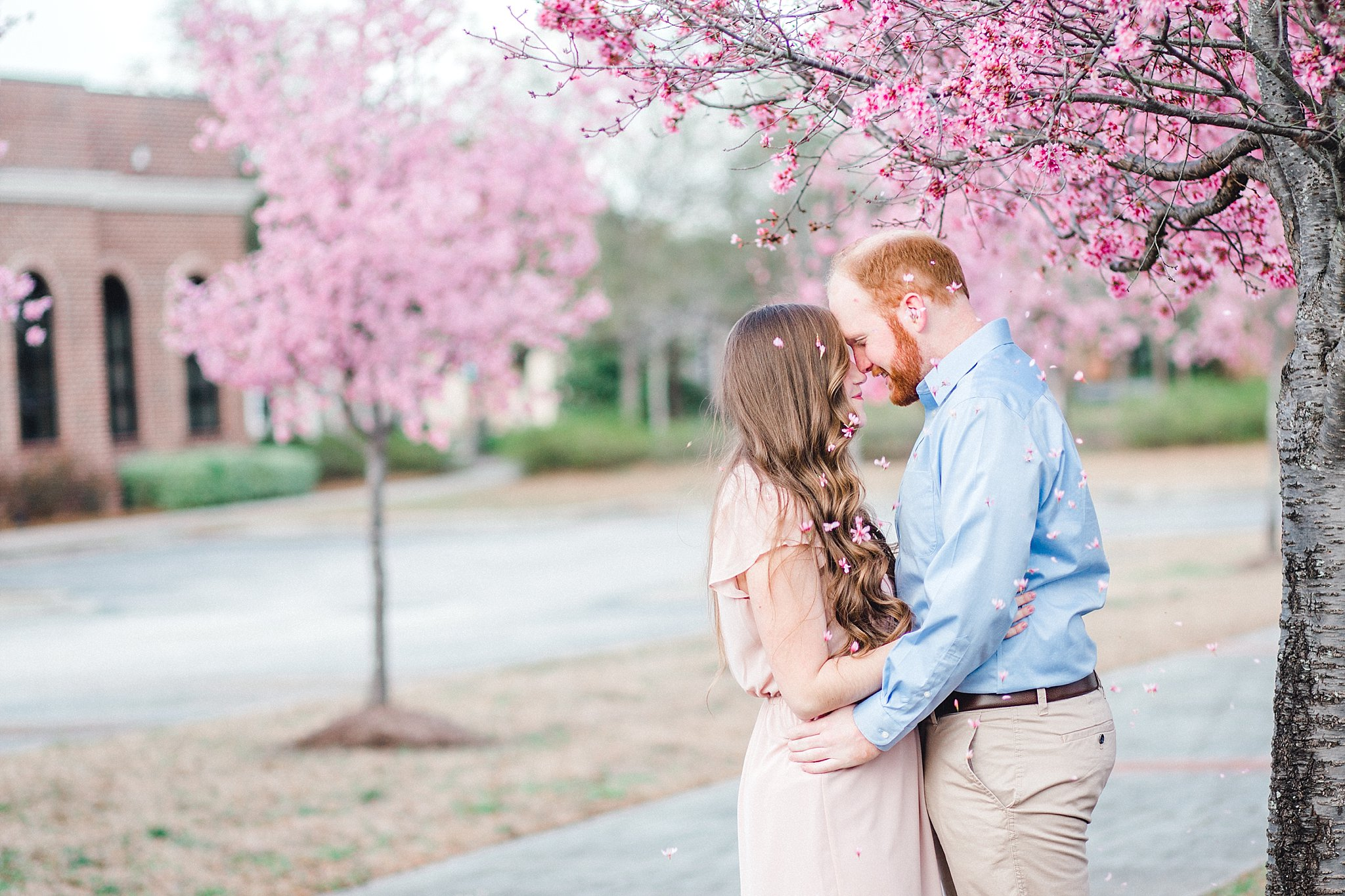 A springtime engagement session in South Carolina