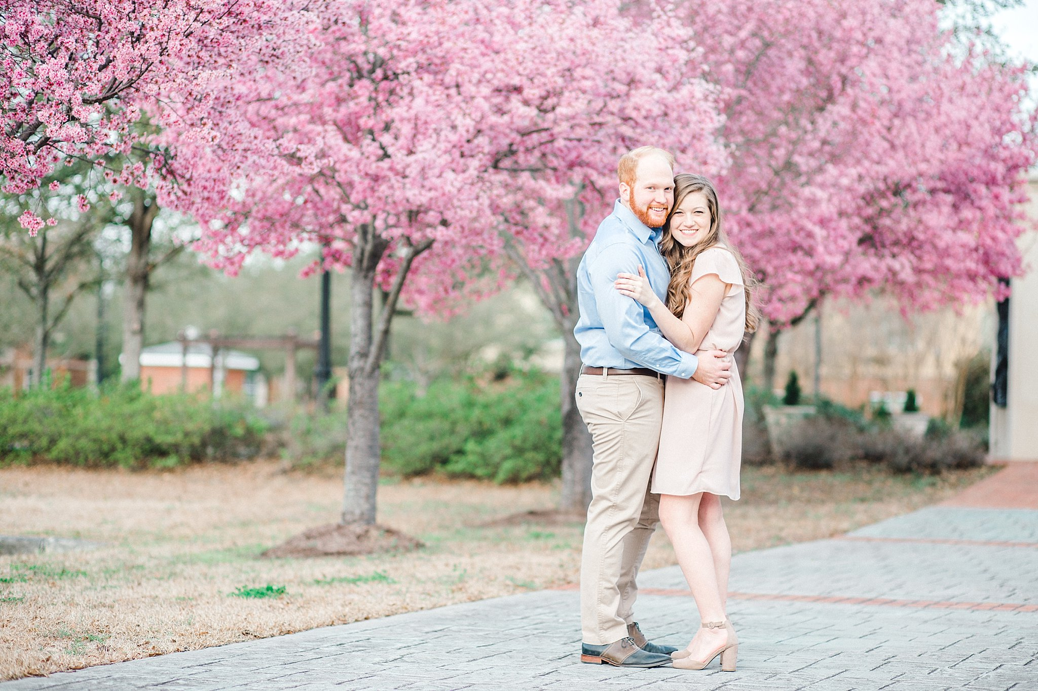 Springtime engagement session
