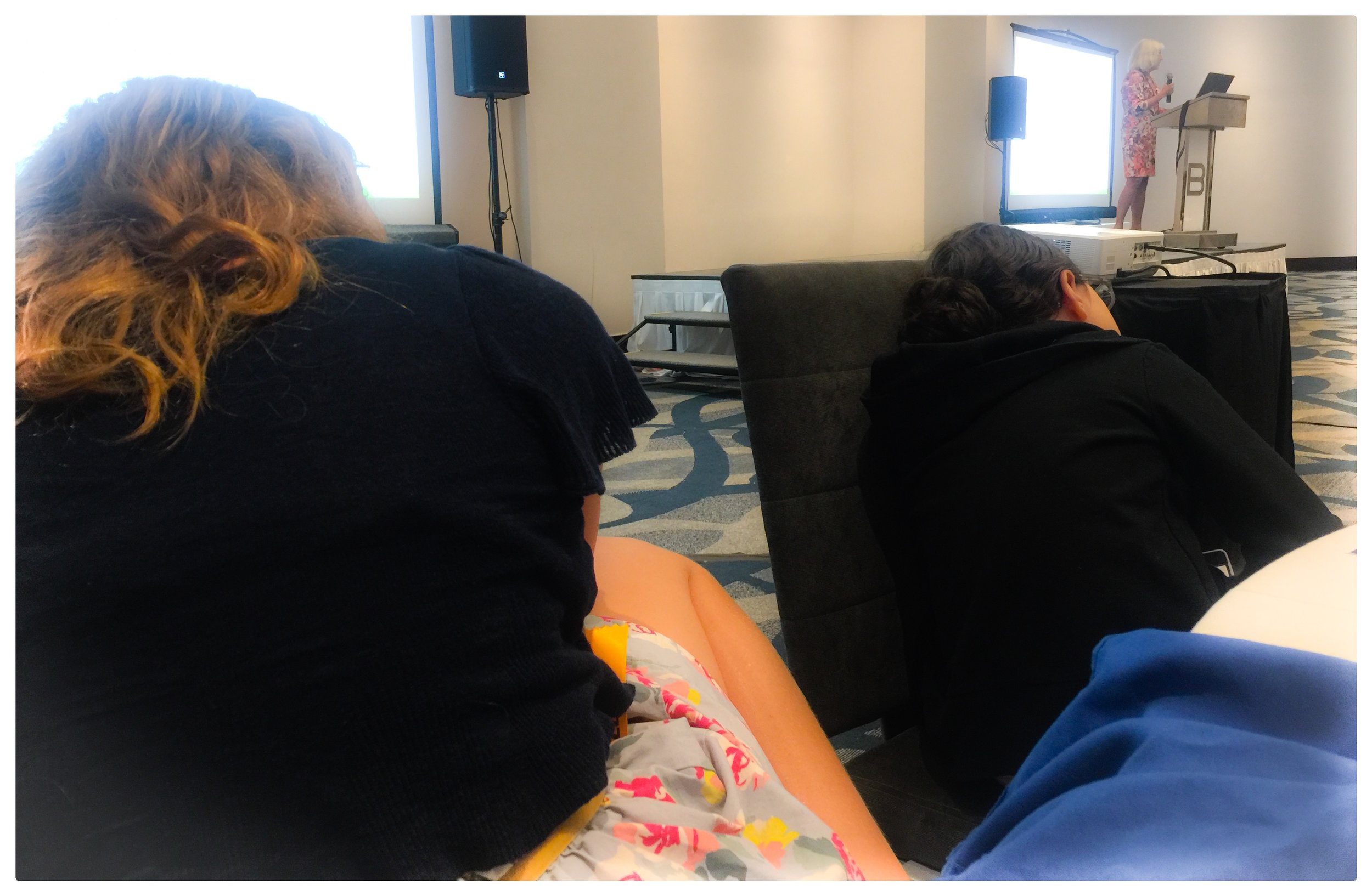 Mathilda and her friend who also has Narcolepsy both fell asleep during the key note address.