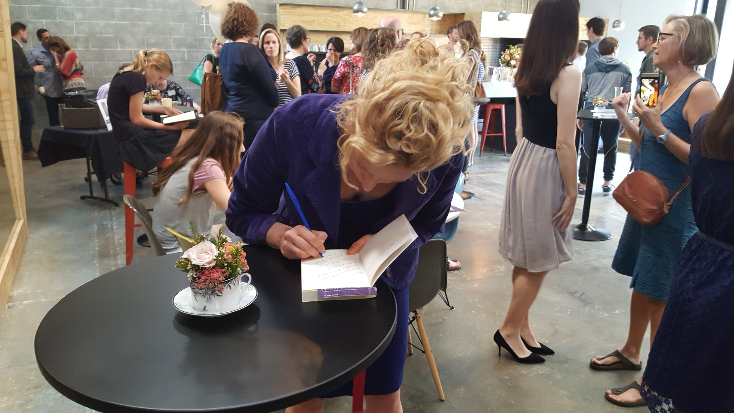 I loved signing books for friends who have been supportive of our journey.