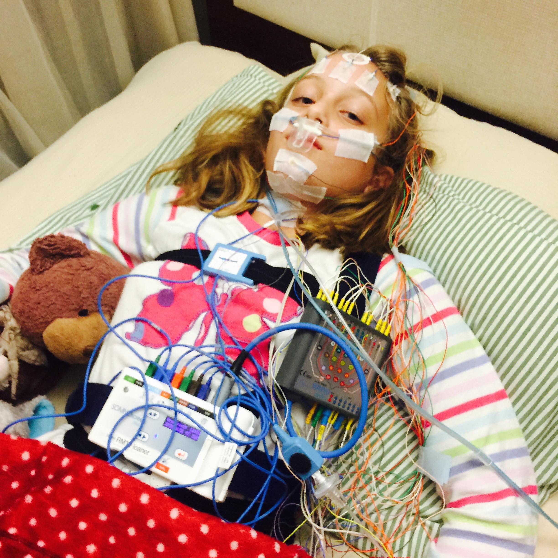 One of multiple sleep studies Mathilda has had to endure.