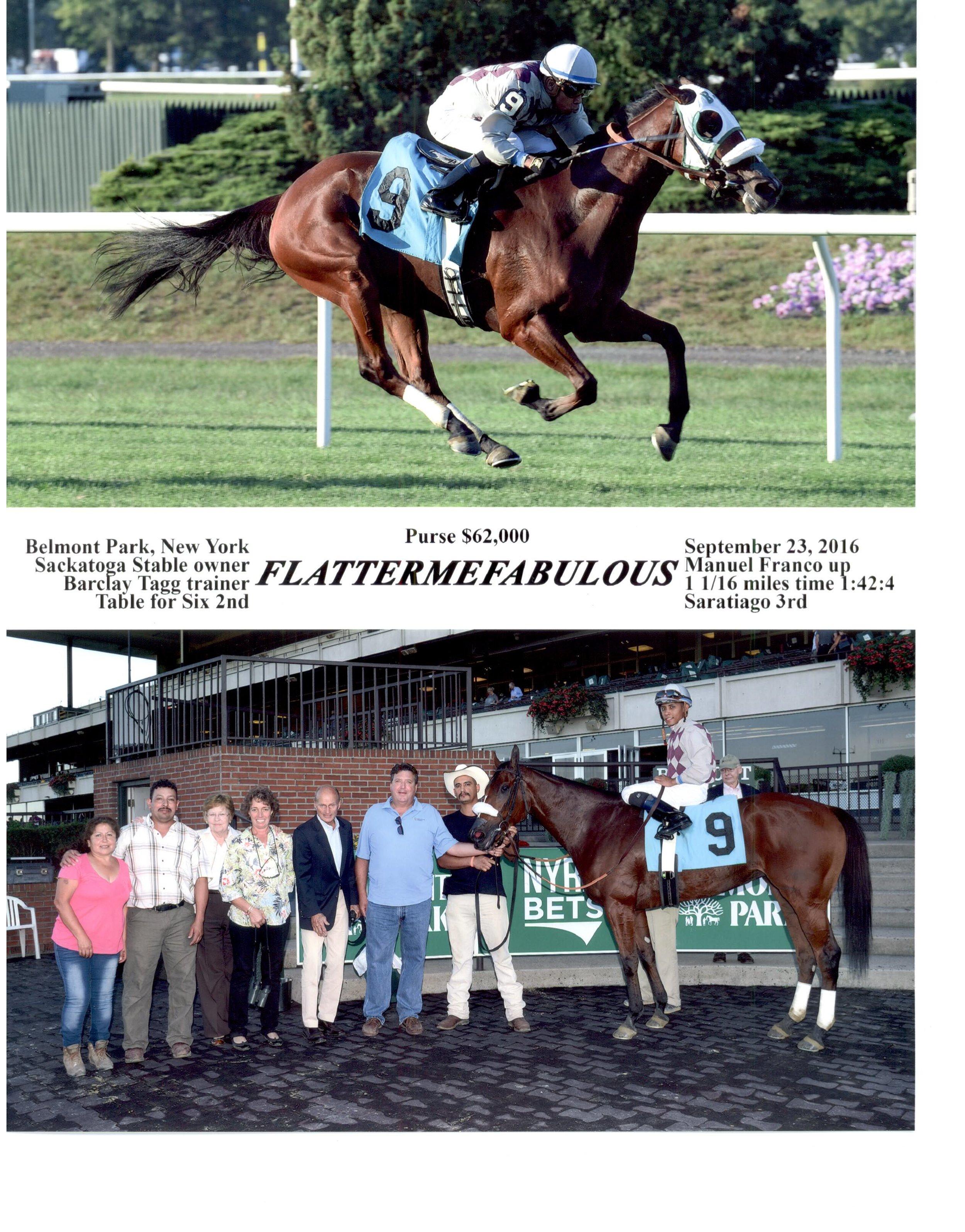 9-23-2016 - Flattermefabulous Winning Photo - Belmont Park.jpg