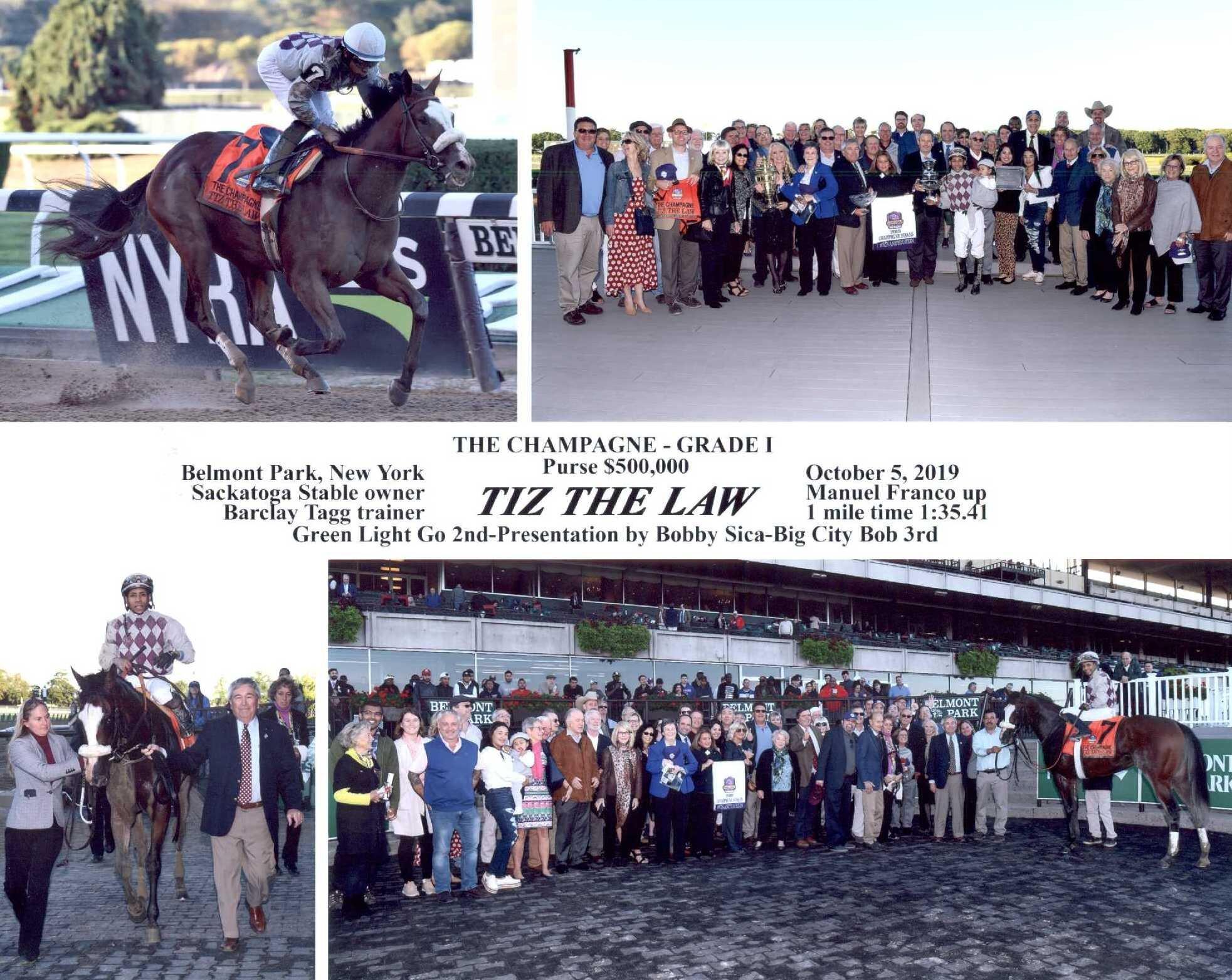 Tiz the Law - 1 st Place Belmont Grade 1 Champagne - 10-5-2019.jpg