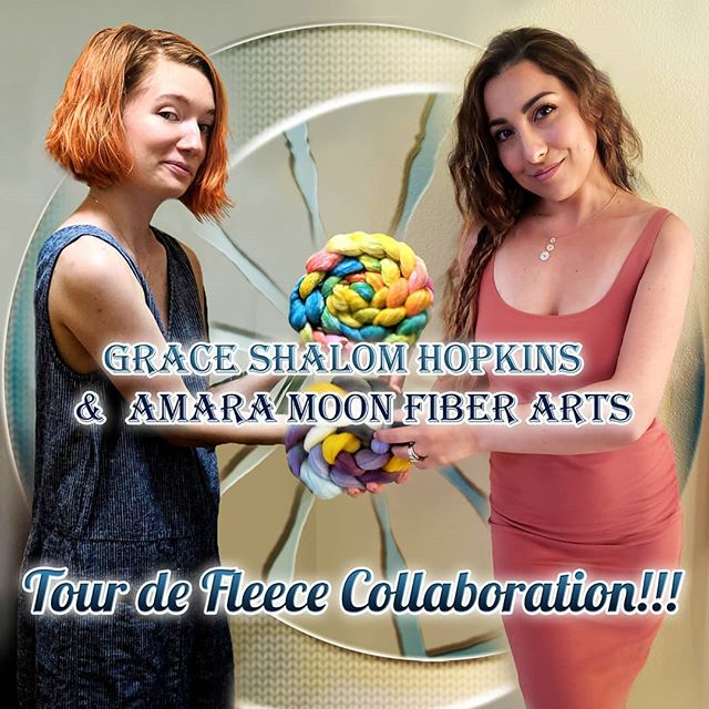 @amara_moon_fiber_arts and I are doing a #tourdefleece collaboration!  She reached out to me and I was so excited by her idea of using a vintage bike ad poster (though you guys voted and ironically this one is a modern take 😂) and I've never done anything for tdf soooooooo obviously it's a match made in heaven!  @amara_moon_fiber_arts will be dyeing up an exclusive colourway on a glorious Targhee/bamboo/silk base and I'm throwing in any one recipe from my shop free 😁. You can preorder May 1st-May30th so keep an eye for that announcement ;) I'll be doing a three part video bonanza on YouTube so get ready for awesomeness!