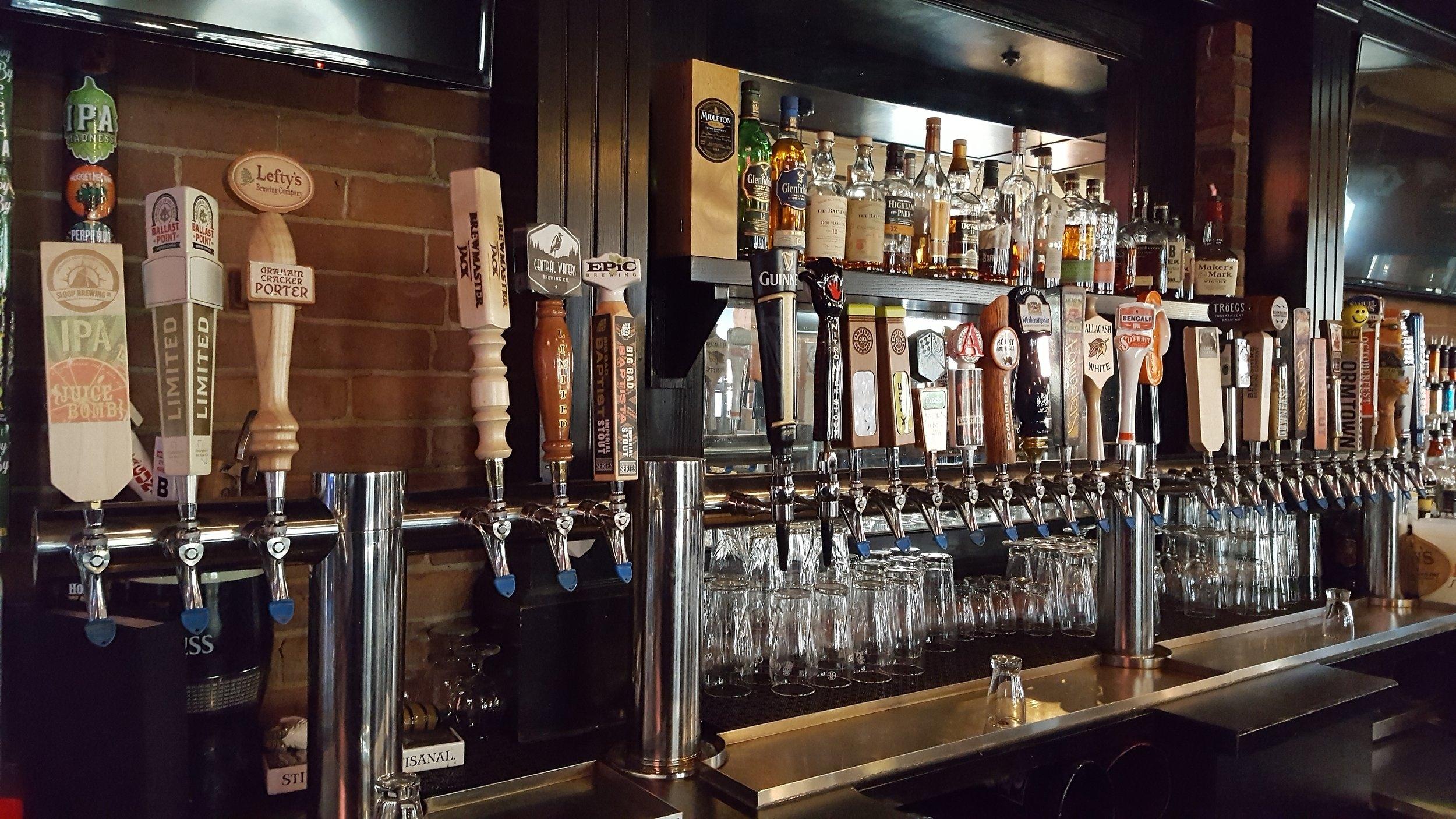 Westfield beer taps