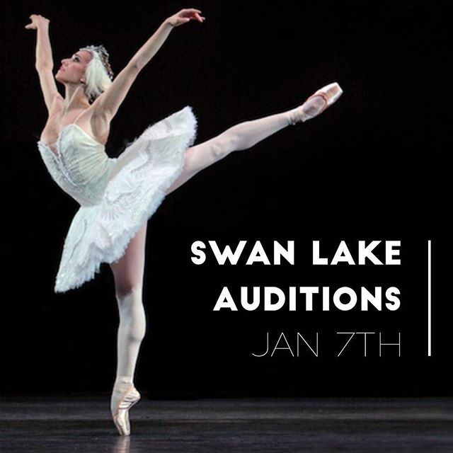 Level VIII & Pre-Professional dancers! This is a reminder that this Saturday is your audition for our Production of Swan Lake at the Spring Recital. Schedule is as follows 10:30-12pm Ballet Class  12-1pm Audition *** All other classes will run as usual