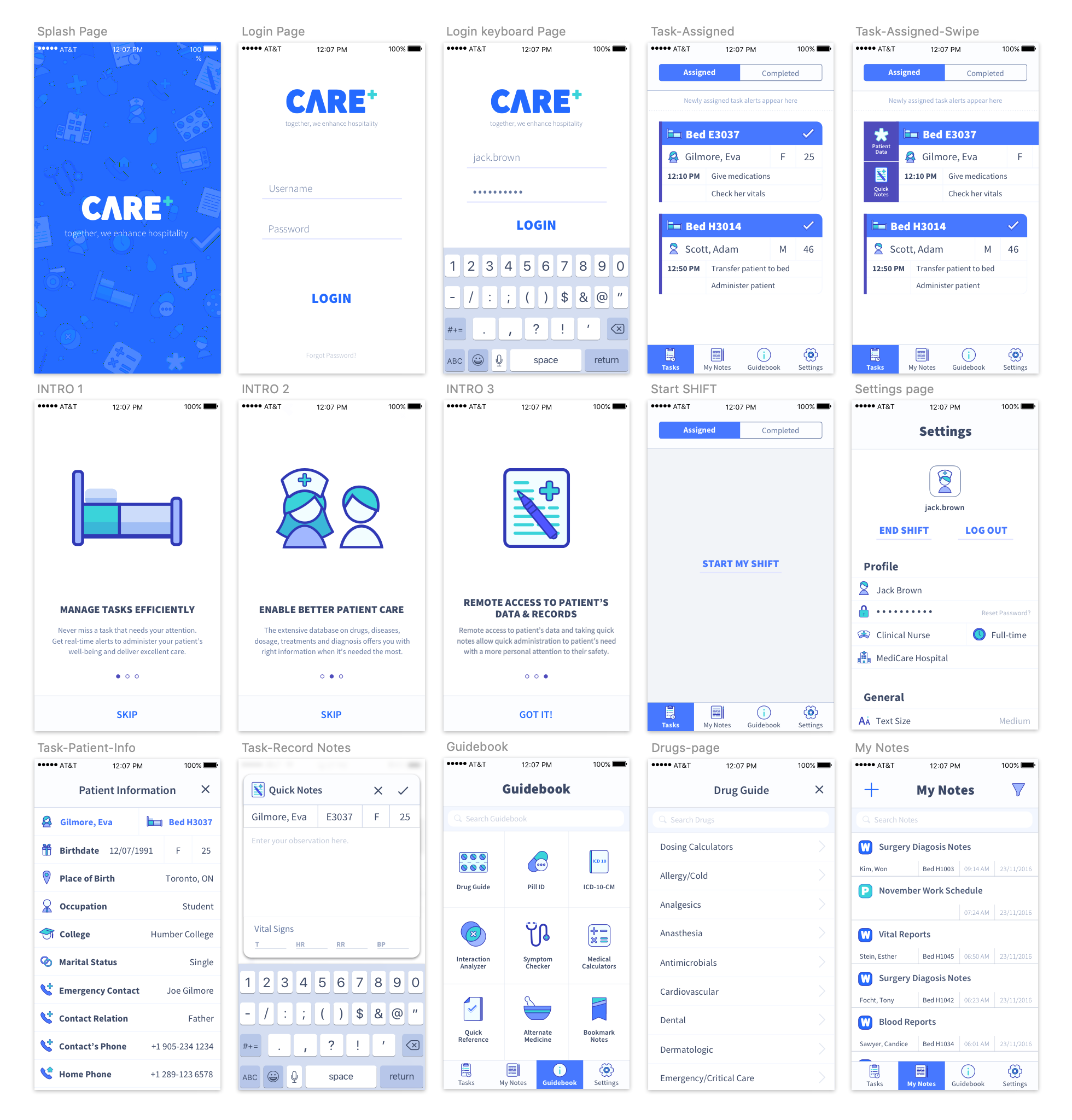 Care+ app: version 1 (Dec 2016)