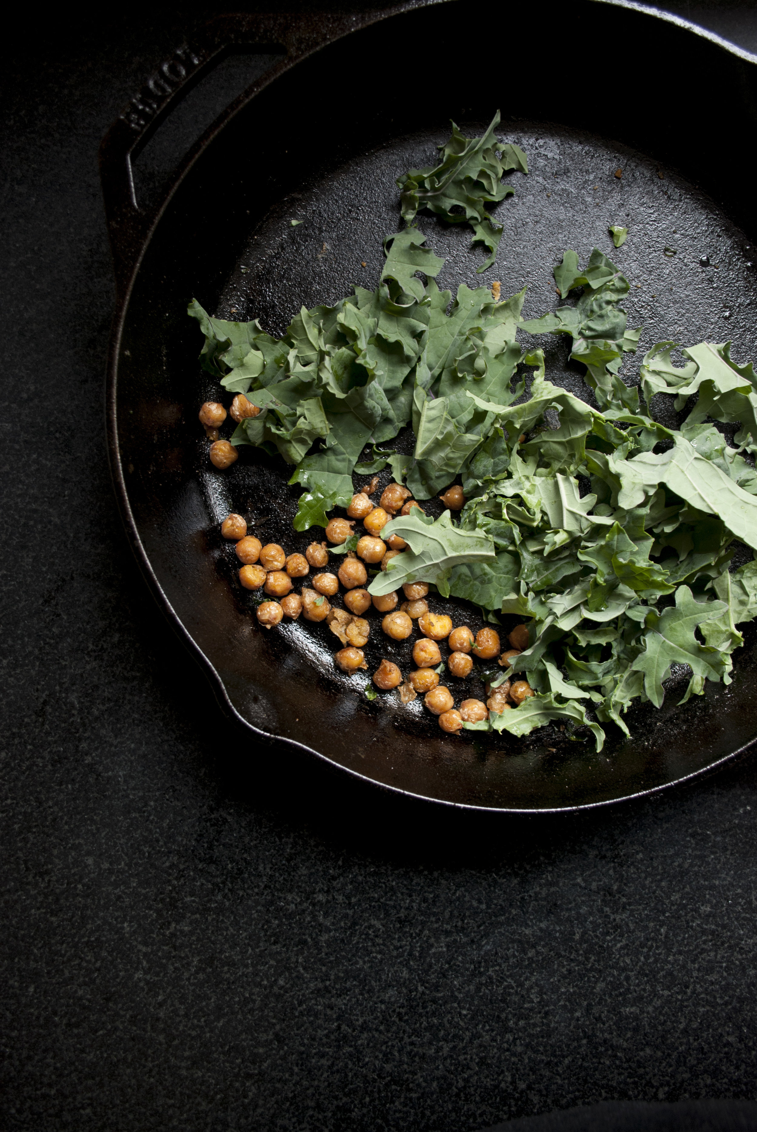 Kale with Warm Chickpeas