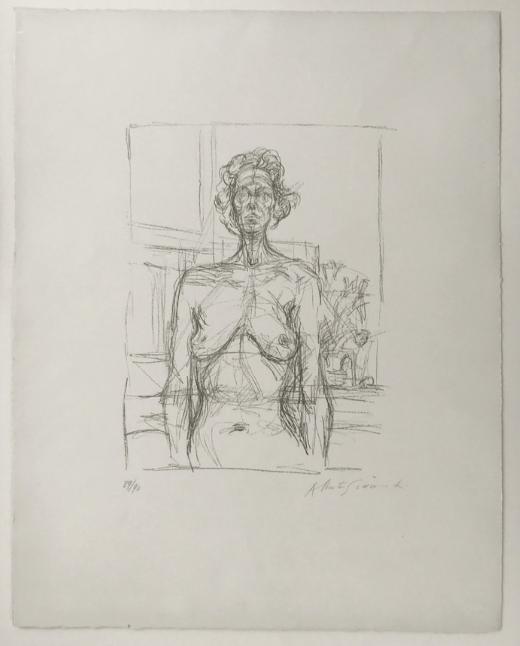 Nu aux fleurs , 1960