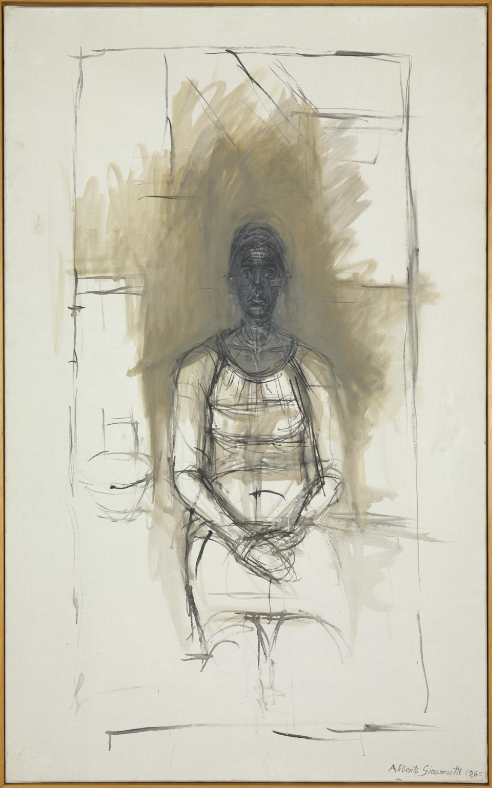 Portrait of Caroline (1960) by Alberto Giacometti