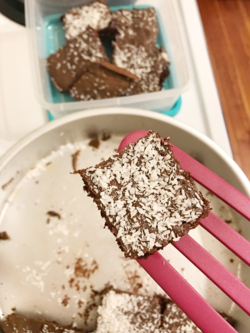 Sprinkle some coconut on top as a finisher!