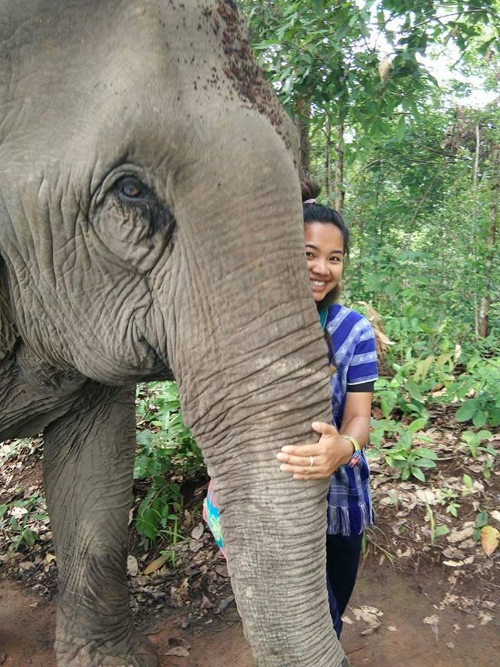Mukapaw at the elephant sanctuary